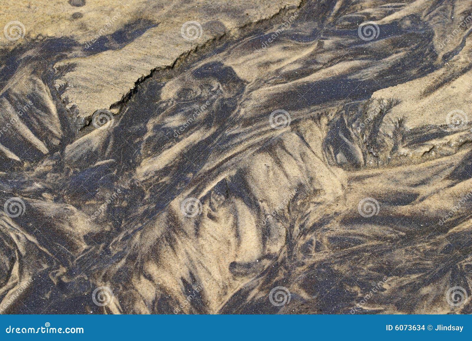 Configurations de sable dans un rivulet