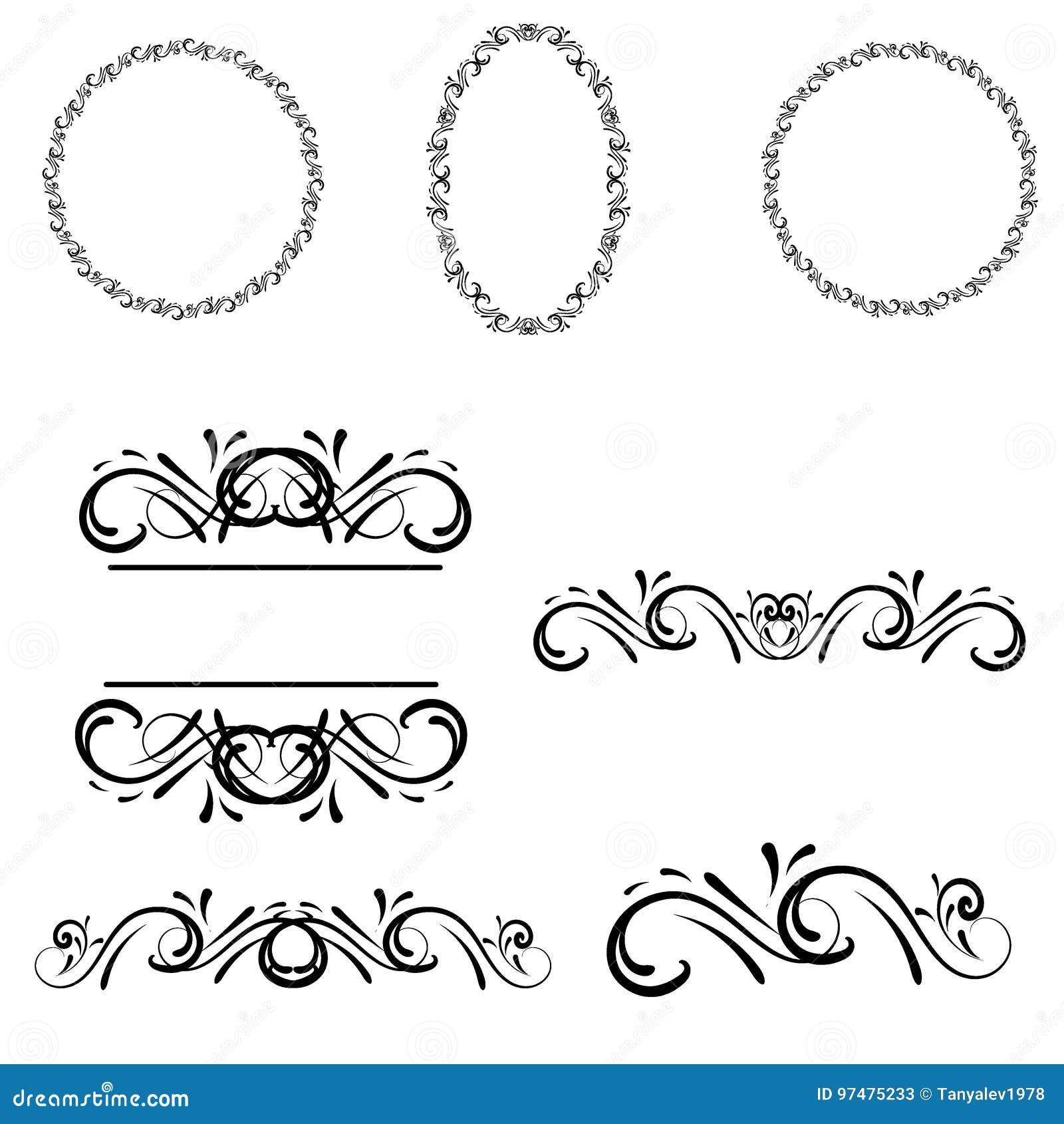Confine decorativo della struttura Struttura di vettore su carta