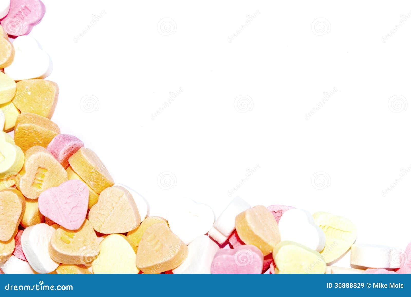 Download Confine dei cuori di Candy immagine stock. Immagine di isolato - 36888829