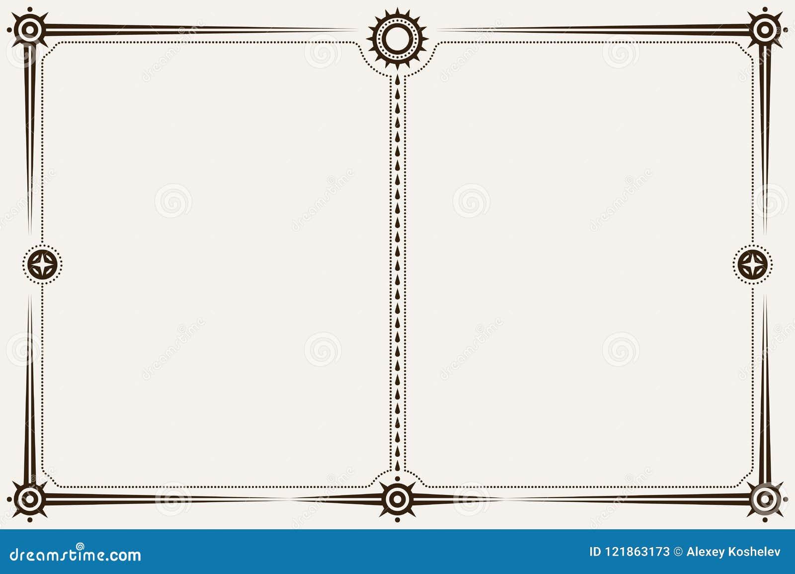 Confine o struttura di orientamento del paesaggio di Minimalistic