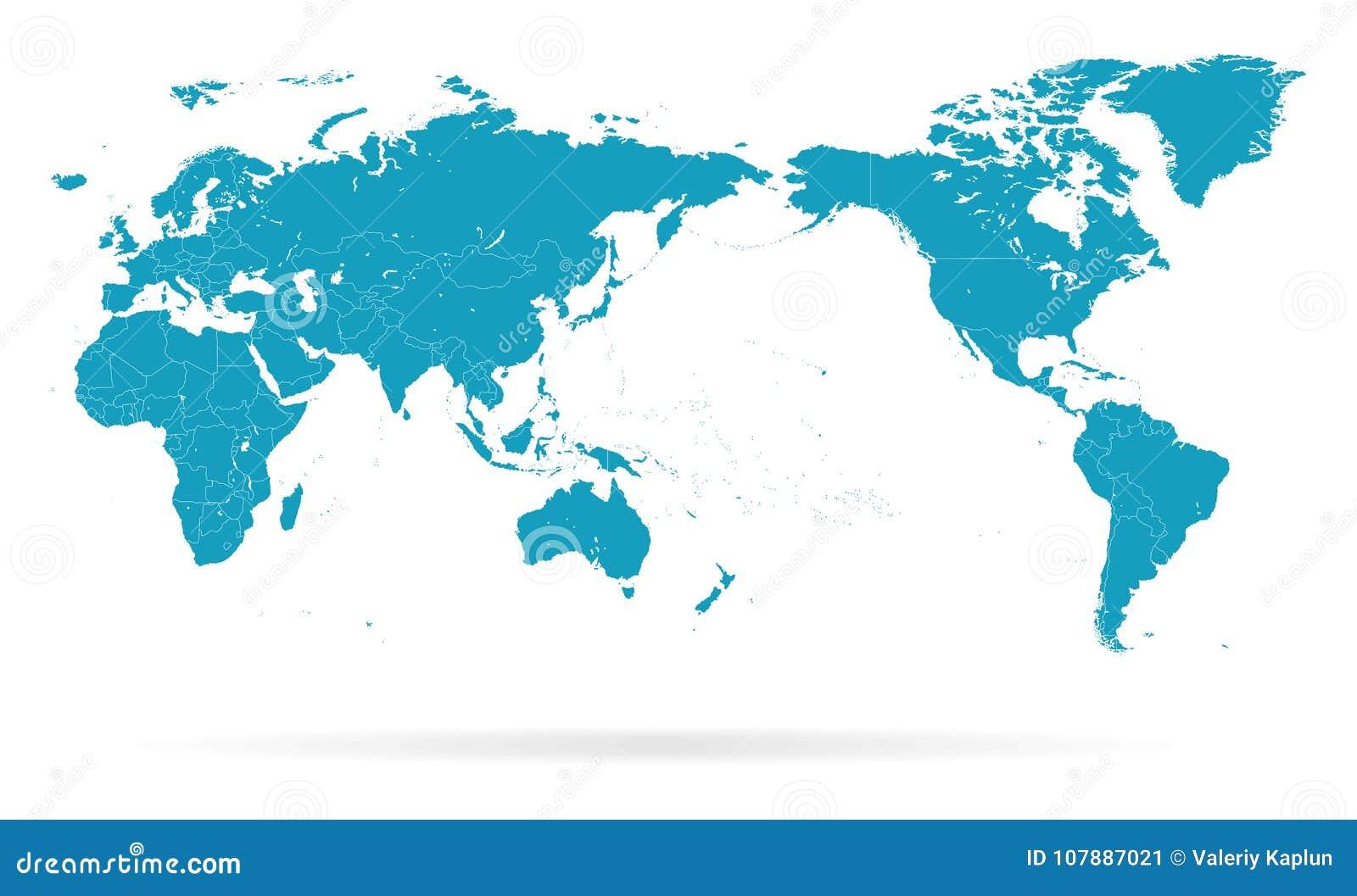 Confini della siluetta di contorno del profilo della mappa - Mappa del mondo contorno ks2 ...