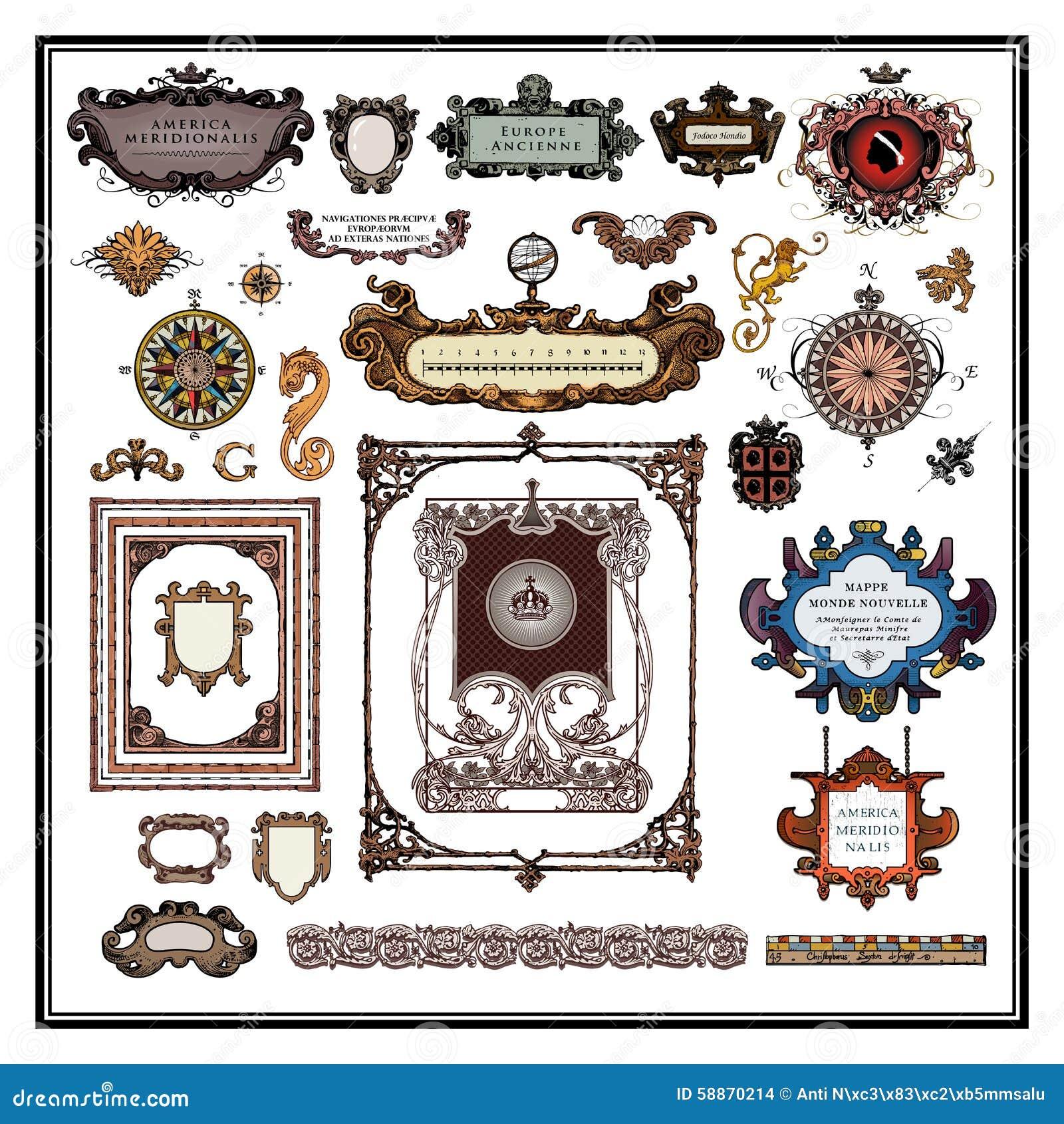 Confini e strutture antichi degli elementi della mappa