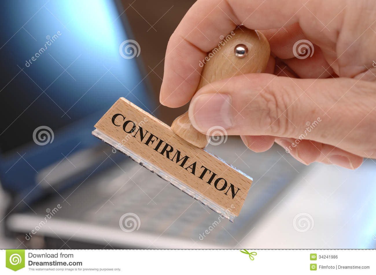 confirmation royalty free stock image