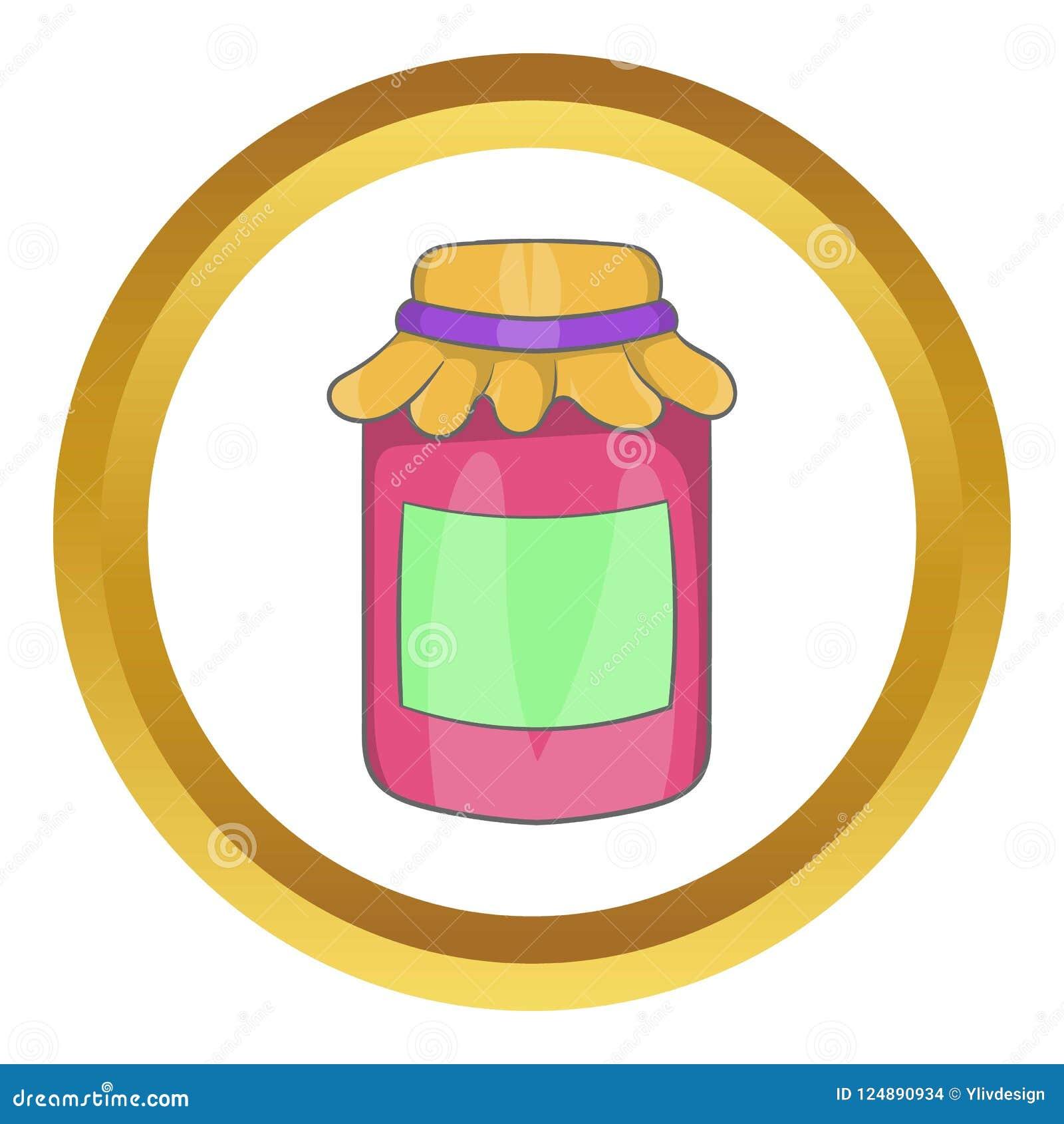 Confiture dans une icône en verre de pot