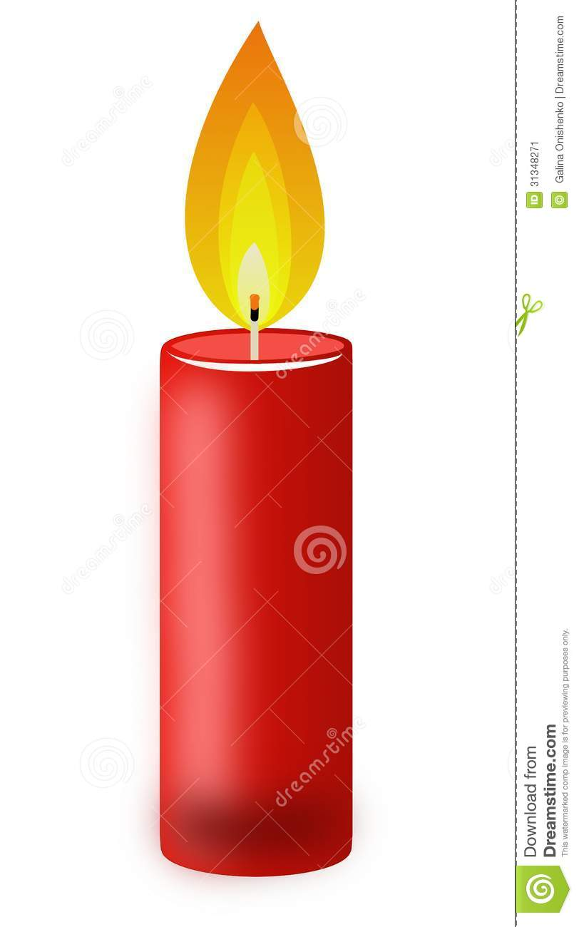 red candle white background - photo #9
