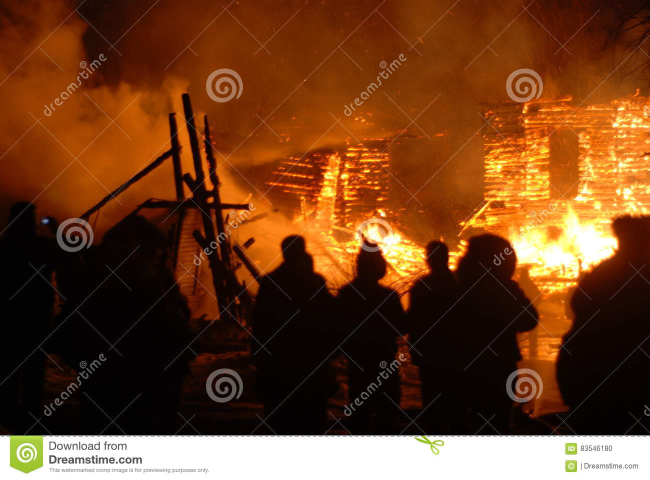 Conflagration Burning Firefighters Fire People On