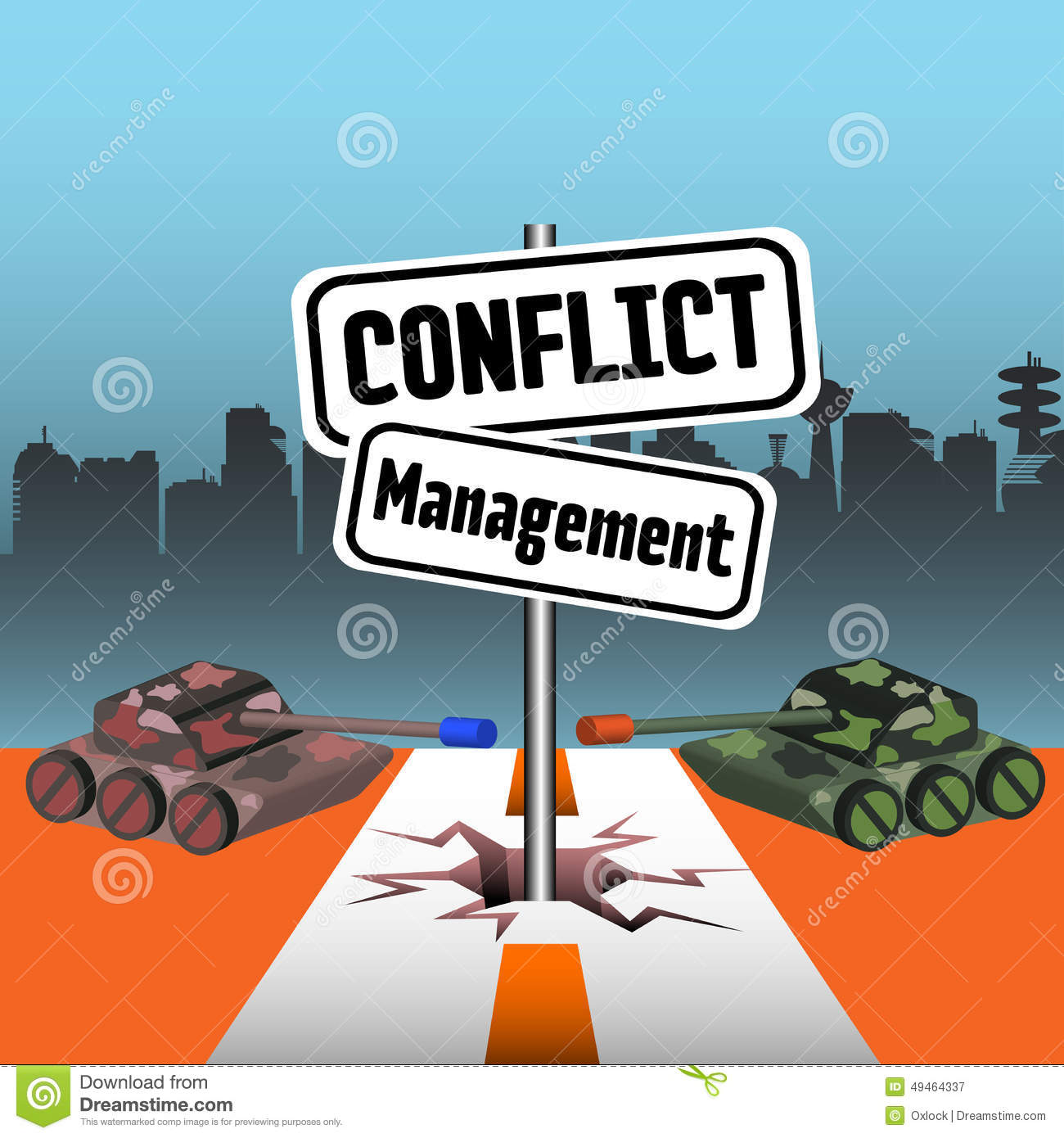 conflict management stock vector image 49464337