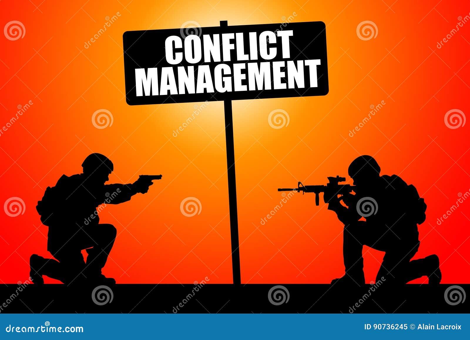 conflict management royaltyfree stock image