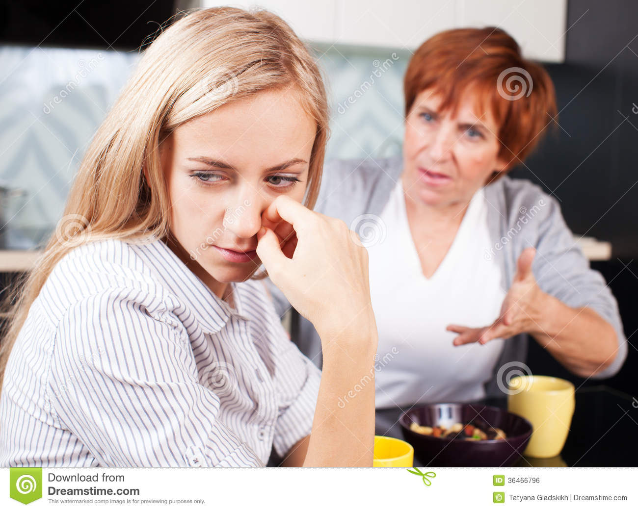 Conflict Between Mother And Daughter Royalty Free Stock