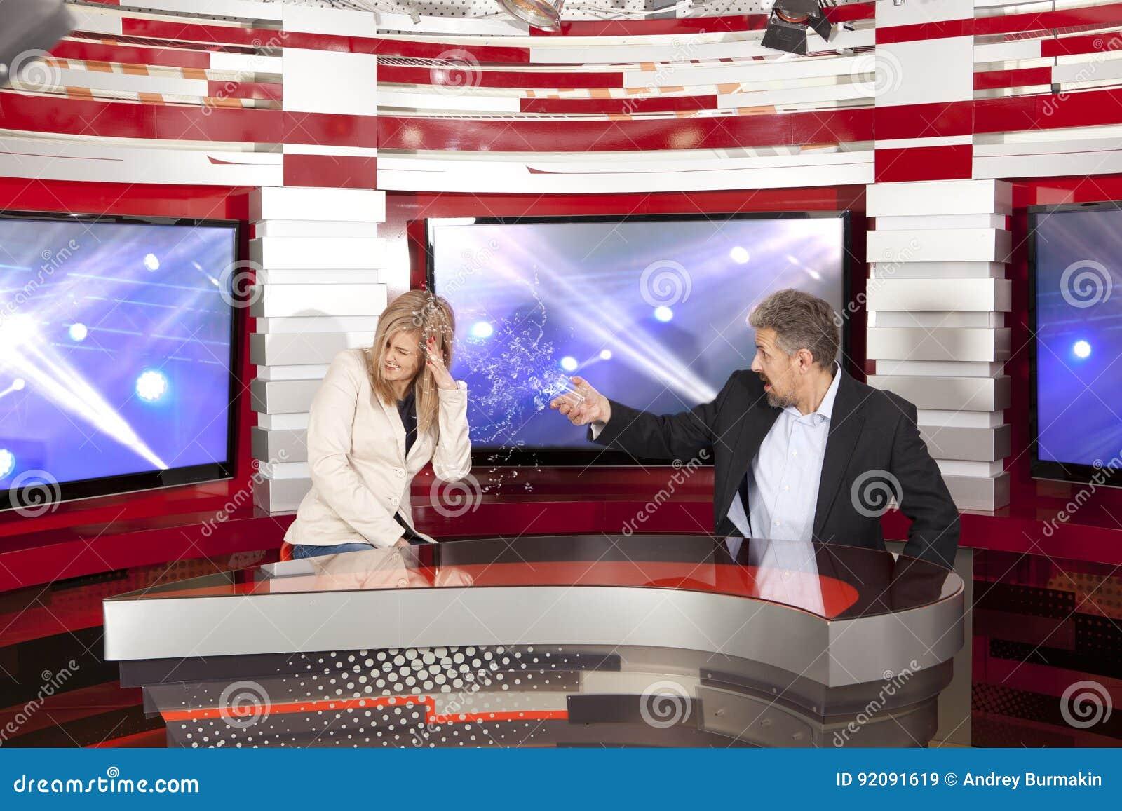 Conflicto en el estudio de la televisión