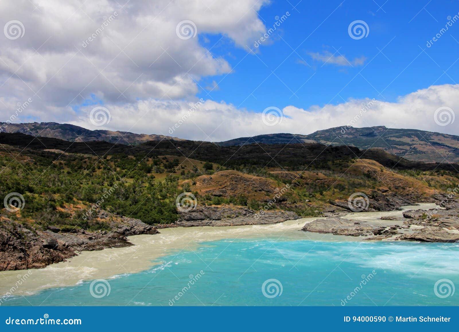 Confluent de rivière de Baker et de rivière de Neff, Carretera austral, Chili