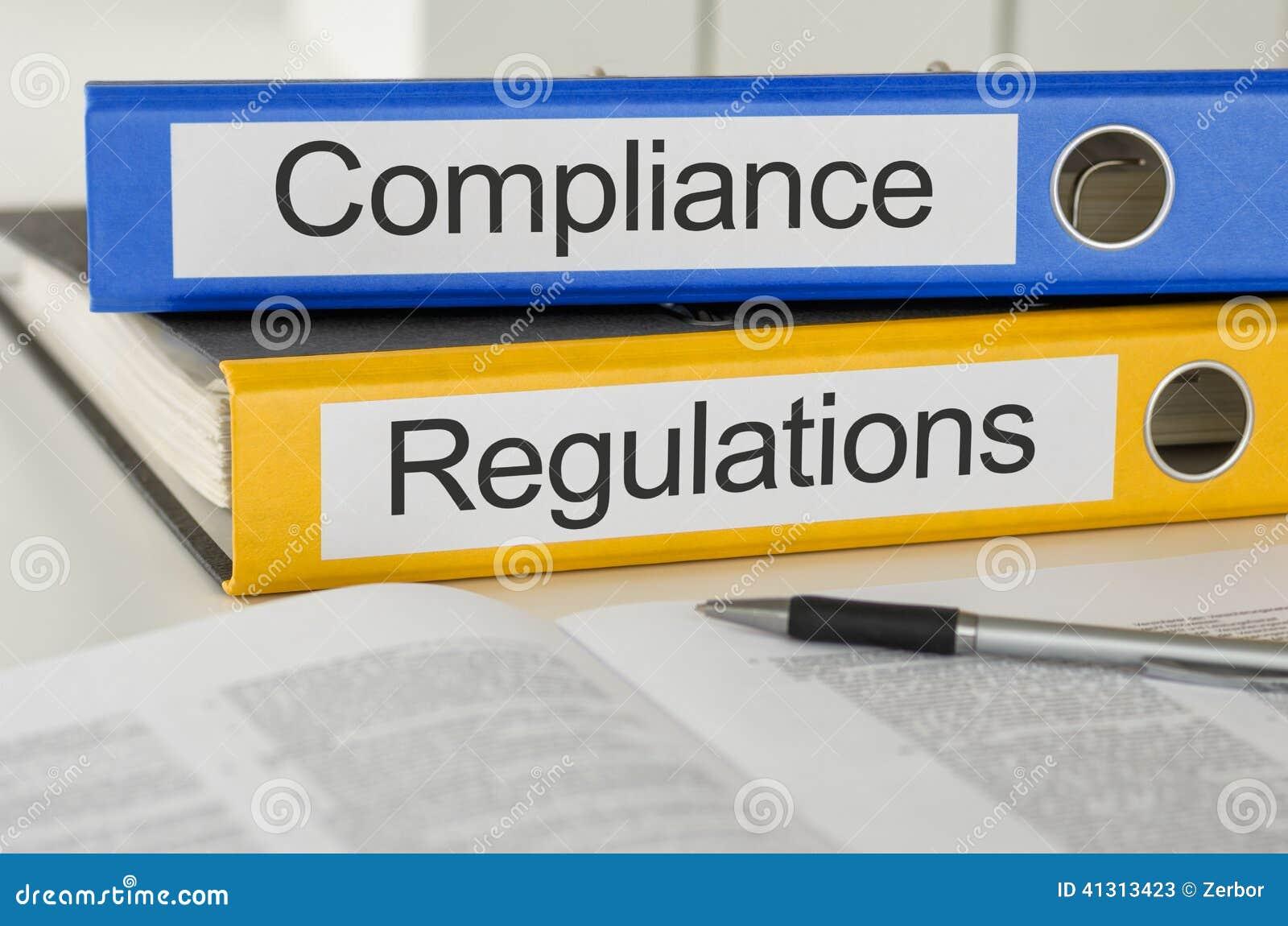Conformidade e regulamentos