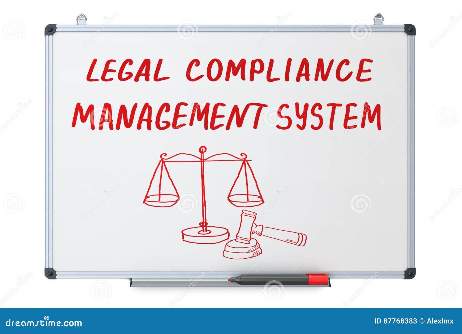 Conformidade legal, conceito de sistema de gestão no erase seco