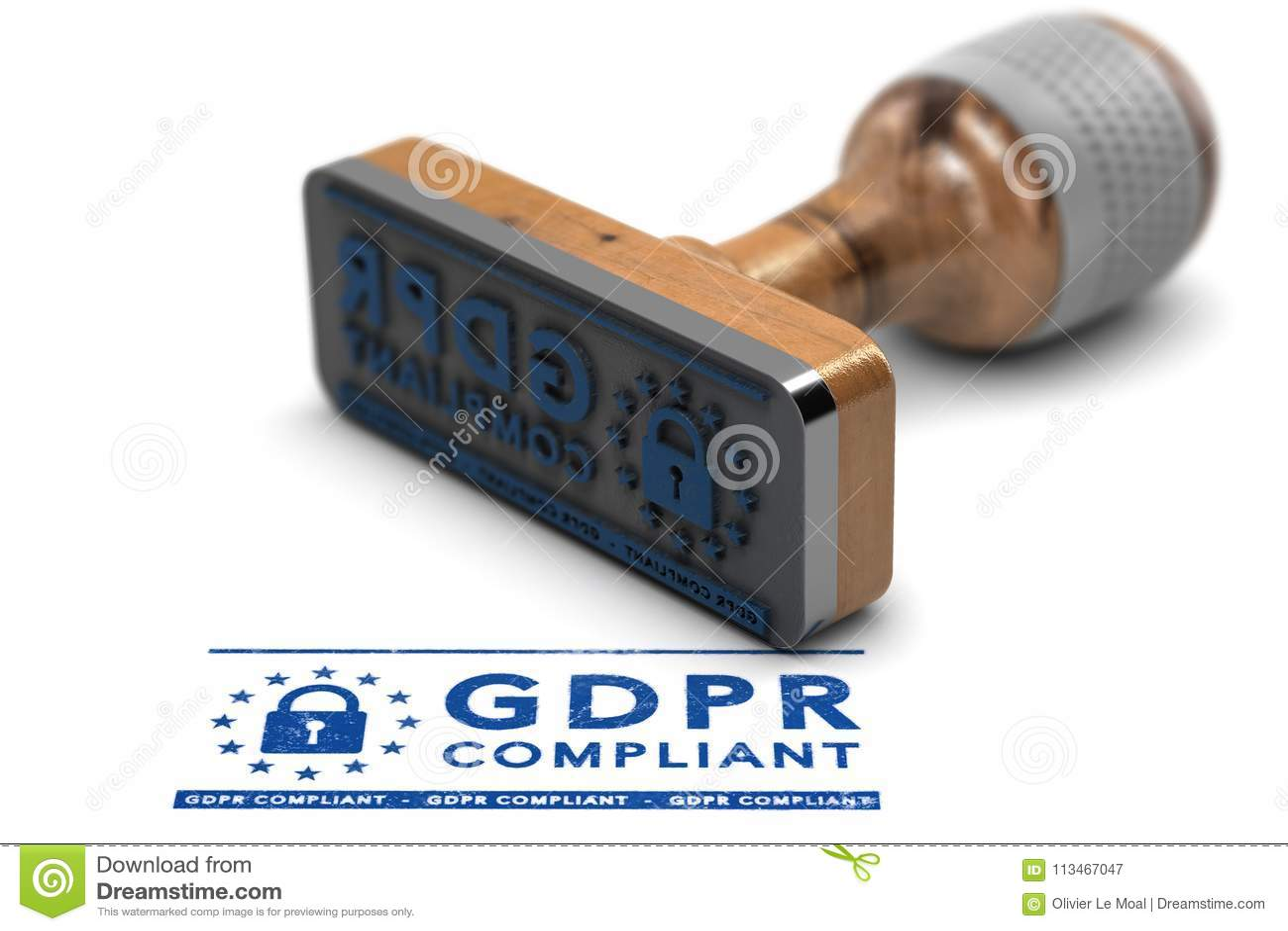 Conformité de GDPR, règlement général de protection des données d UE conforme