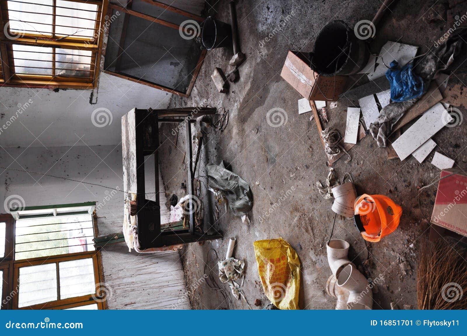 Confusão do local da decoração interior