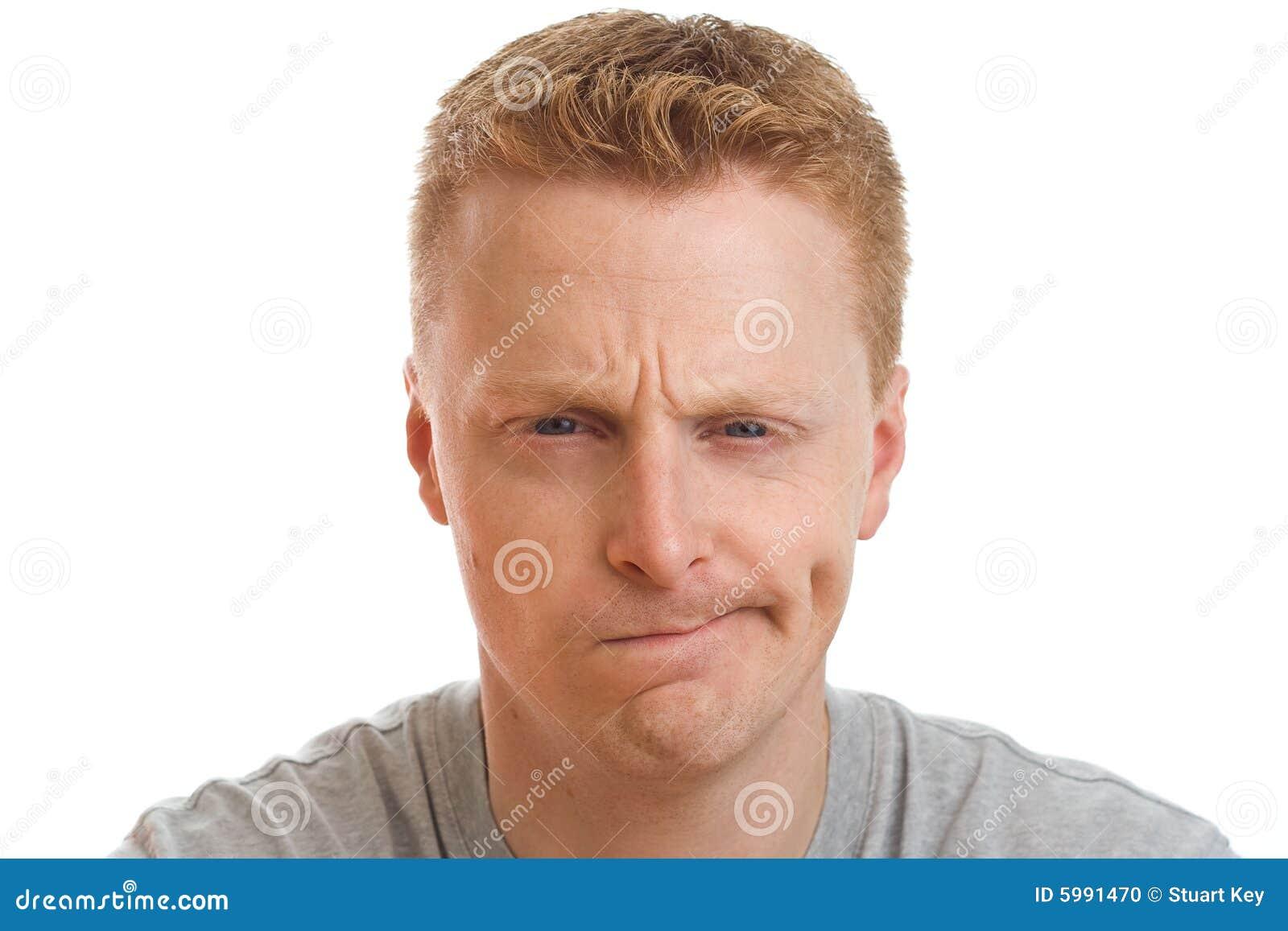 Confused портрет человека