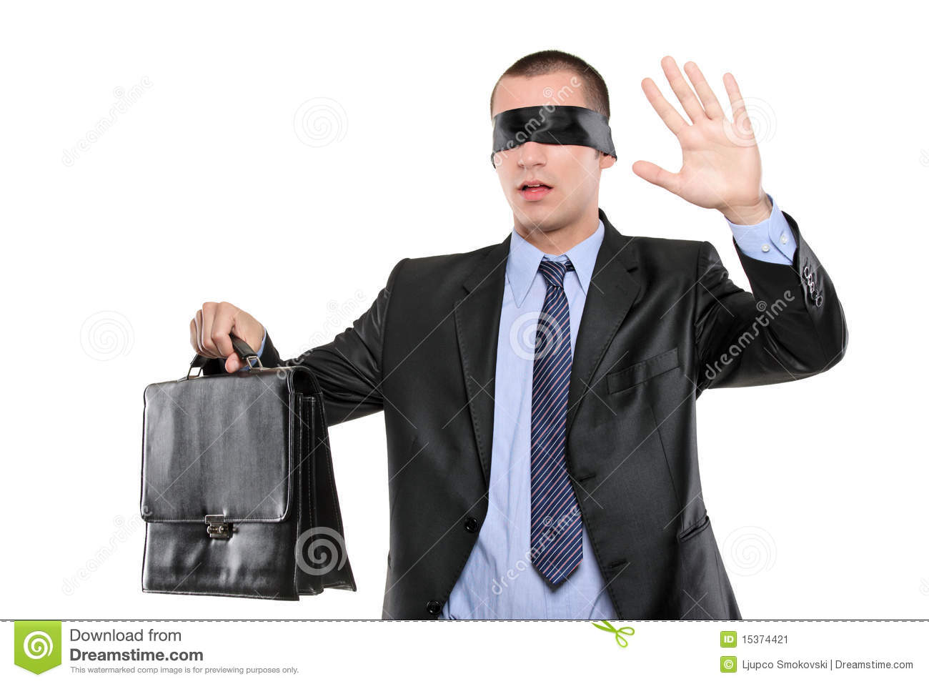 aaadeefdacf Confused Blindfold Businessman With Briefcase Stock Image - Image of ...