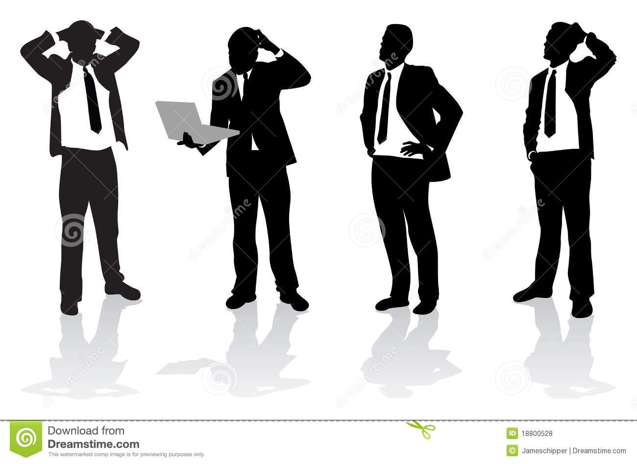 confused business people stock vector illustration of interaction