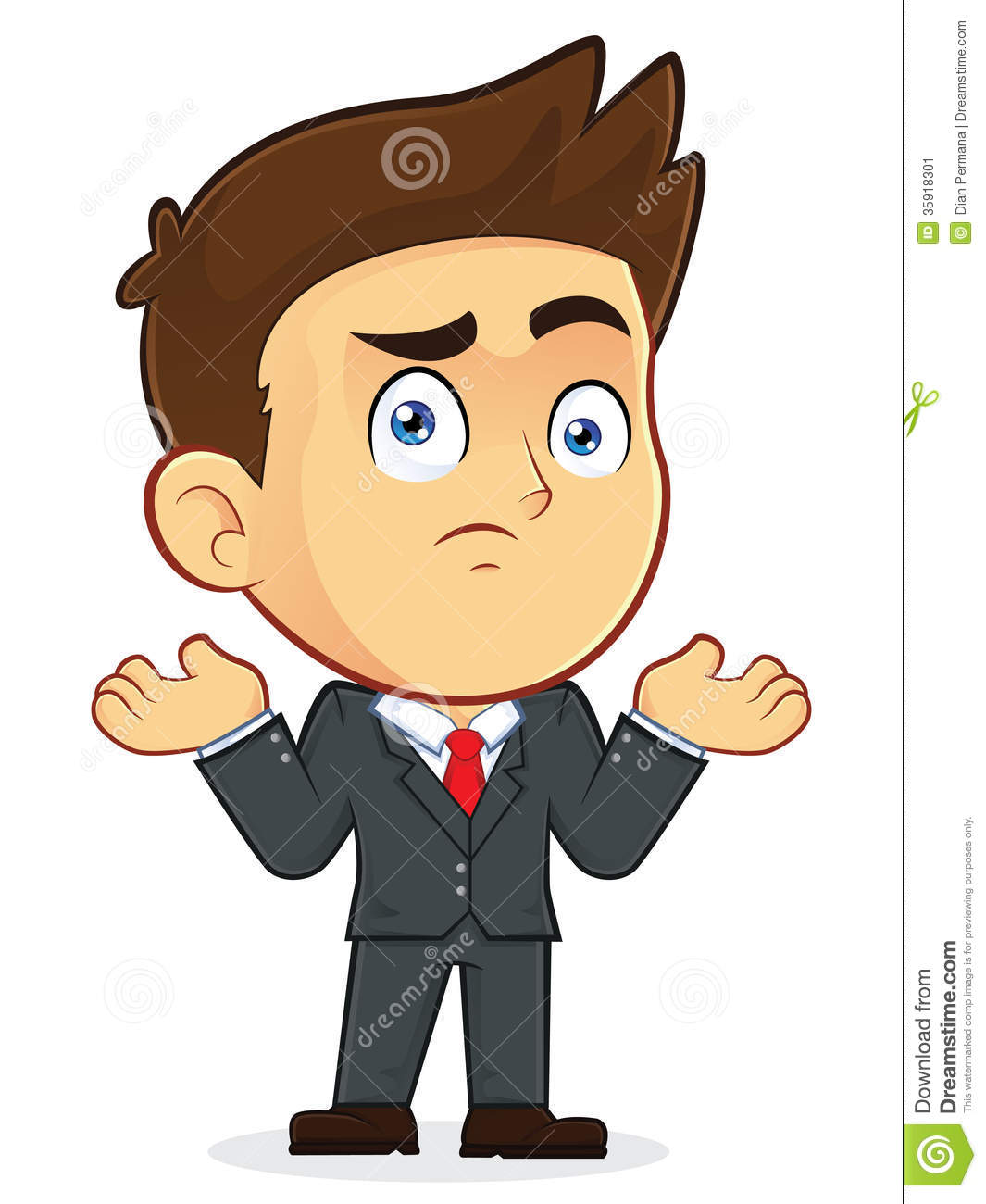 confused businessman gesturing stock vector illustration Confused Animal Clip Art Confused Look Clip Art
