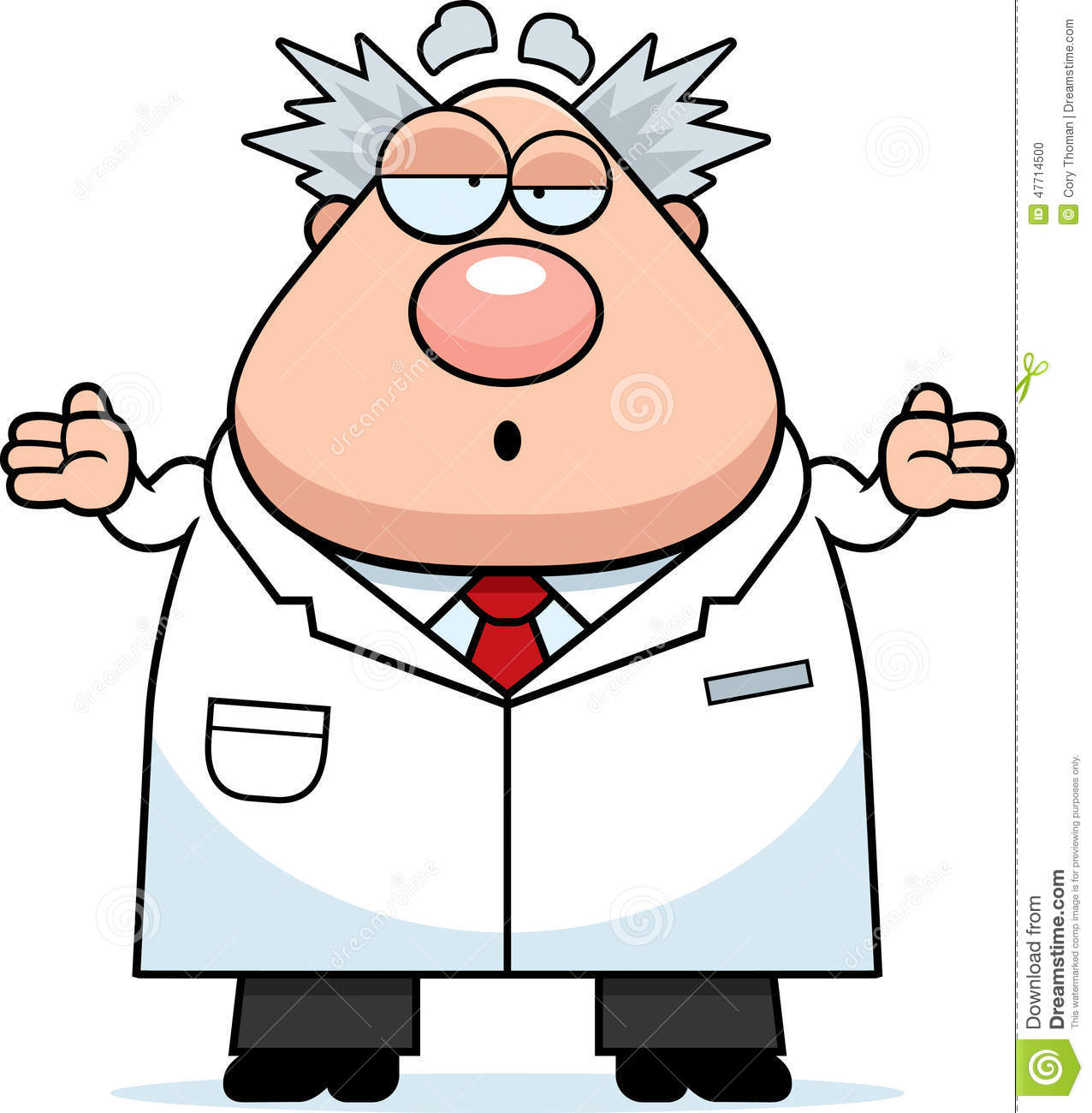 Confused Cartoon Mad Scientist Stock Vector - Image: 47714500