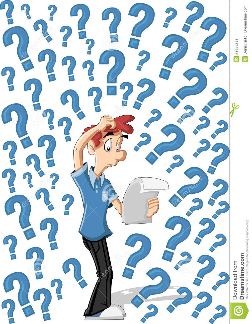 Confused cartoon man stock vector. Image of confusion ...