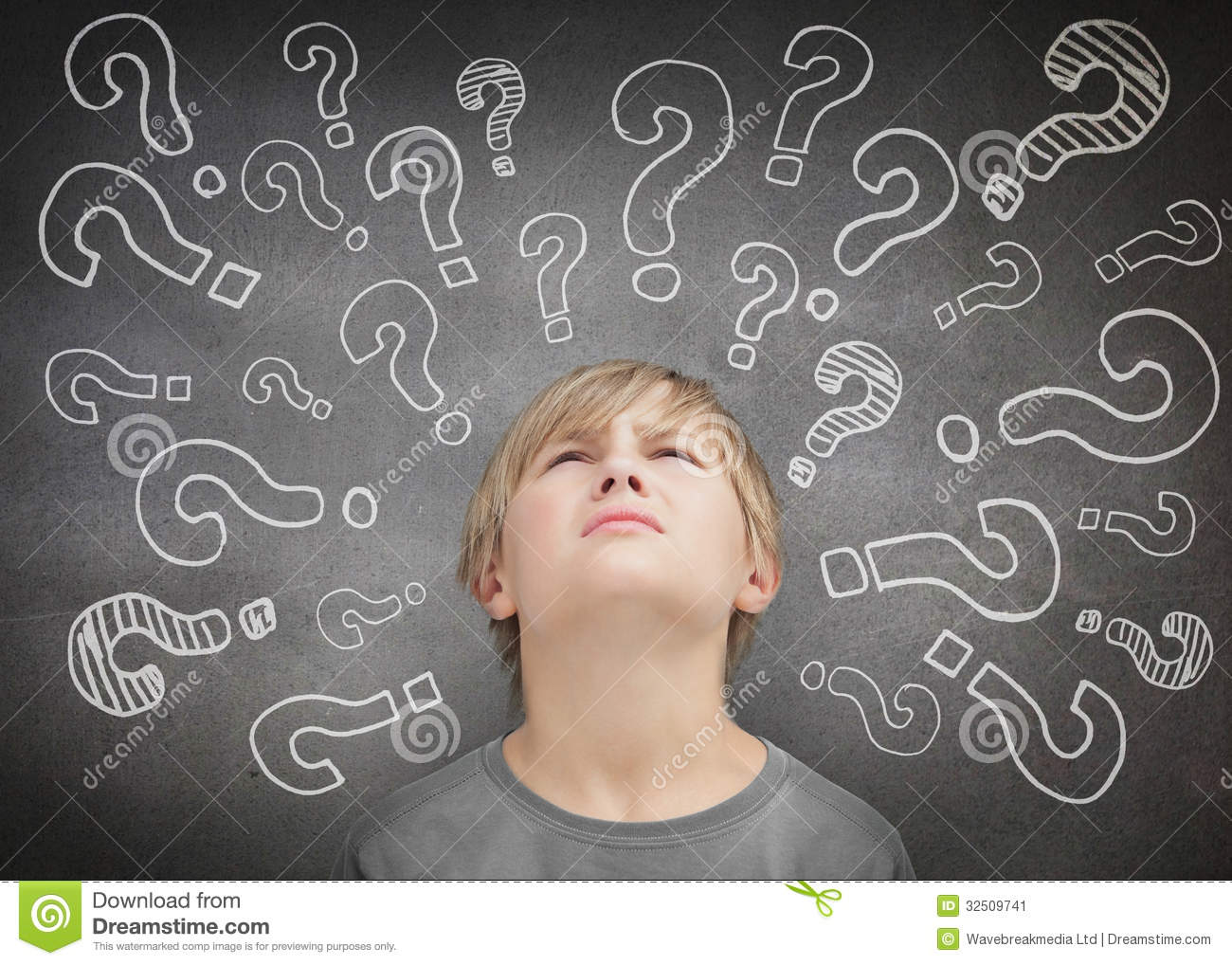 Confused child thinking
