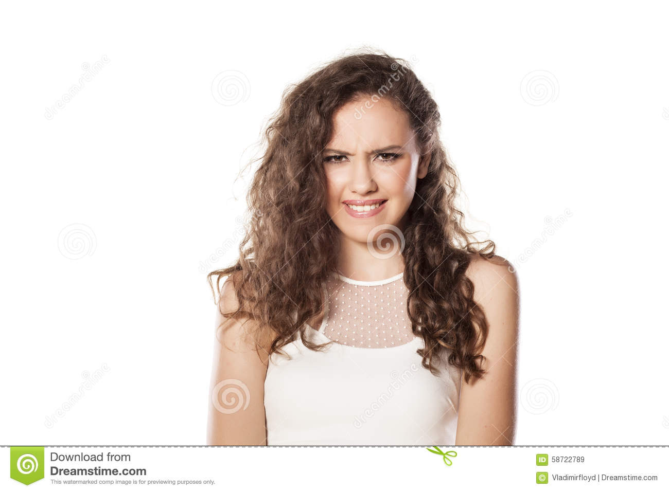 Confused Girl Stock Photo Image 58722789