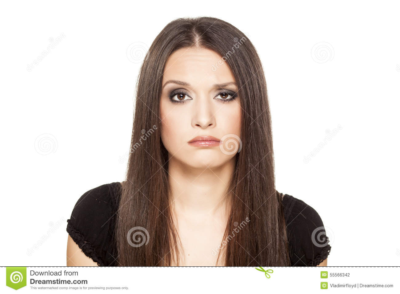 Confused Girl Stock Photo Image Of Thinking Beauty