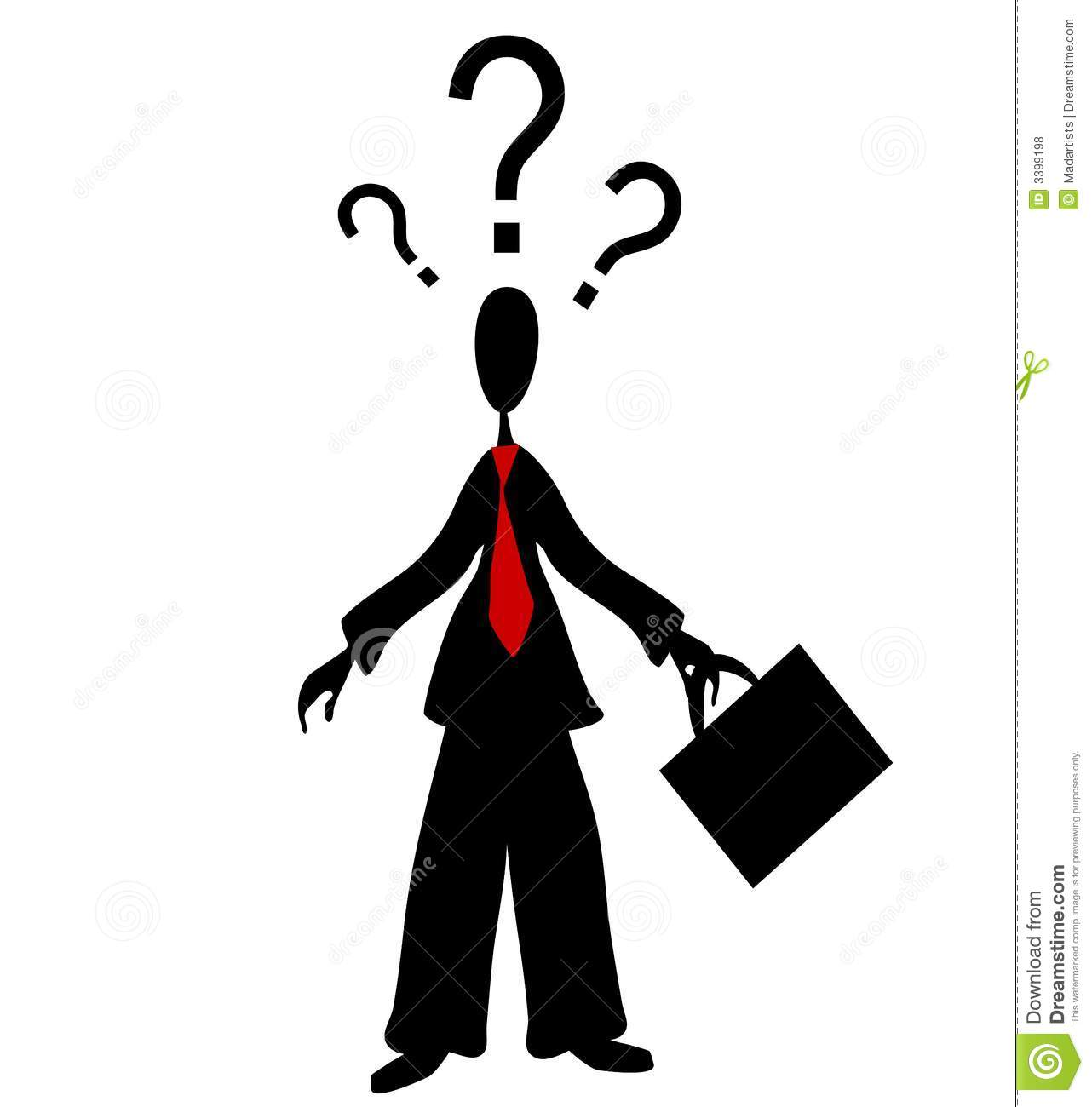 Confused Man Question Marks