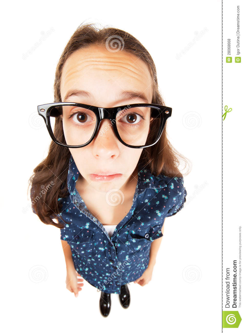 Confused Nerd Girl Royalty Free Stock Photos - Image: 28068668