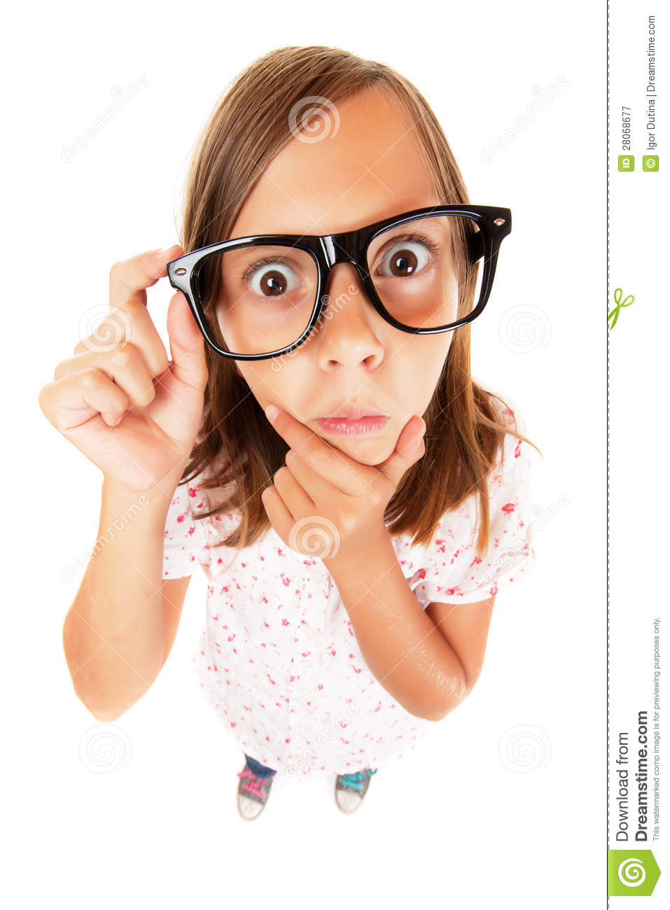 Confused Nerd Girl Stock Image Of Student