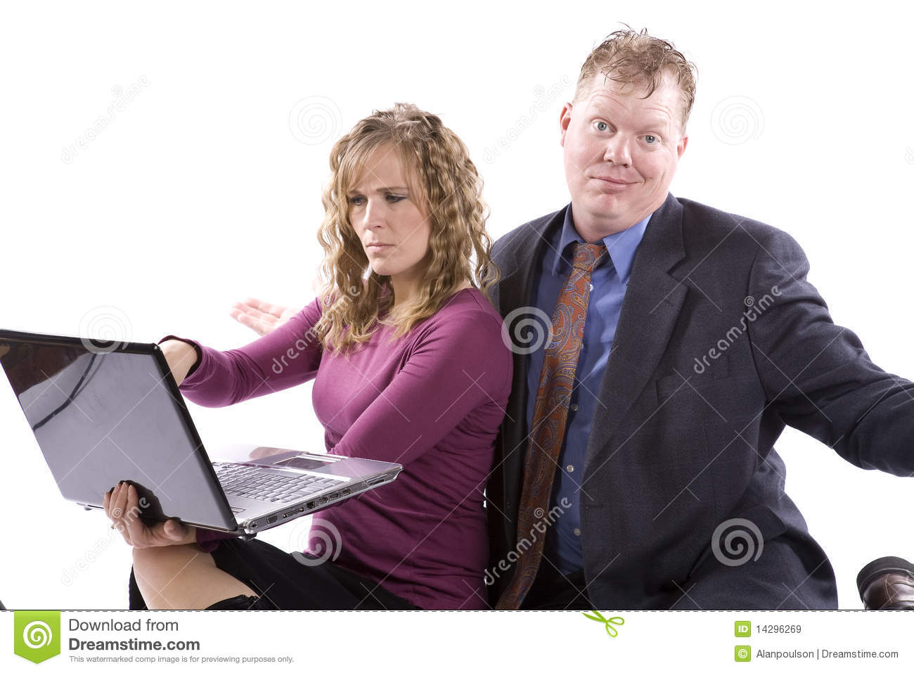confused people stock image image of coworkers couple 14296269