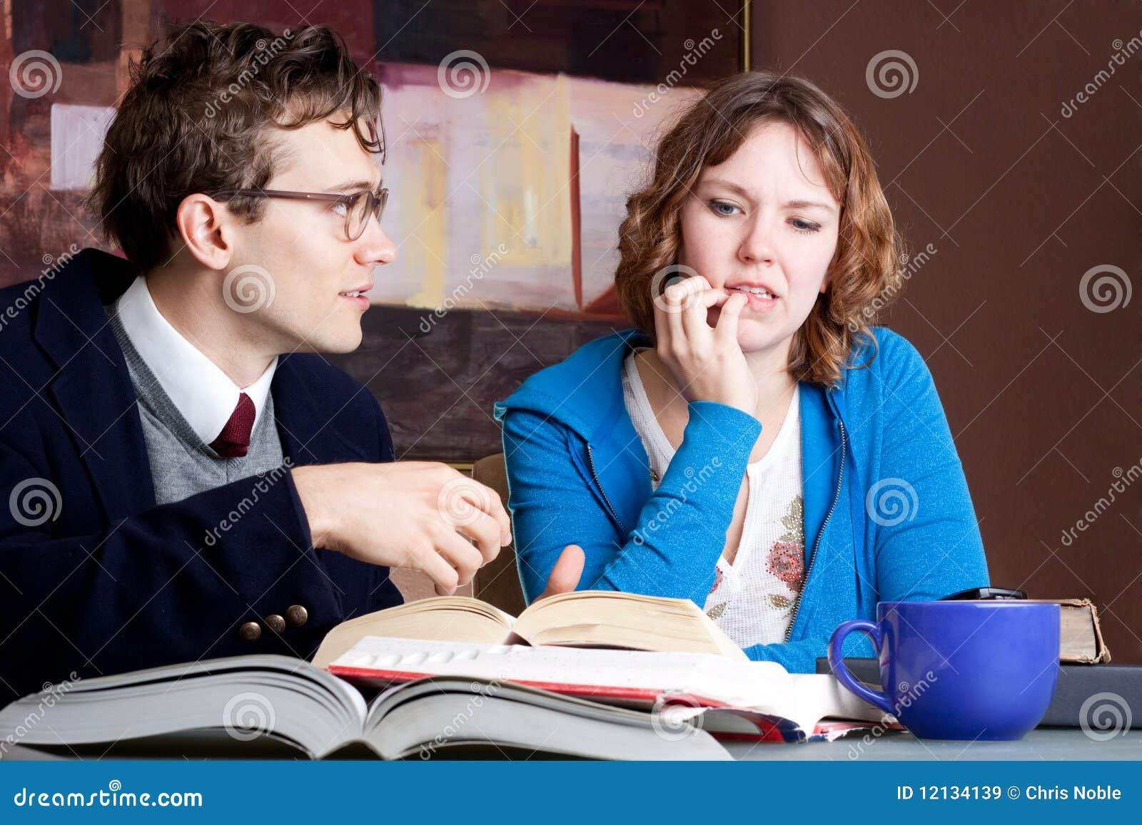 Confused studera för deltagare