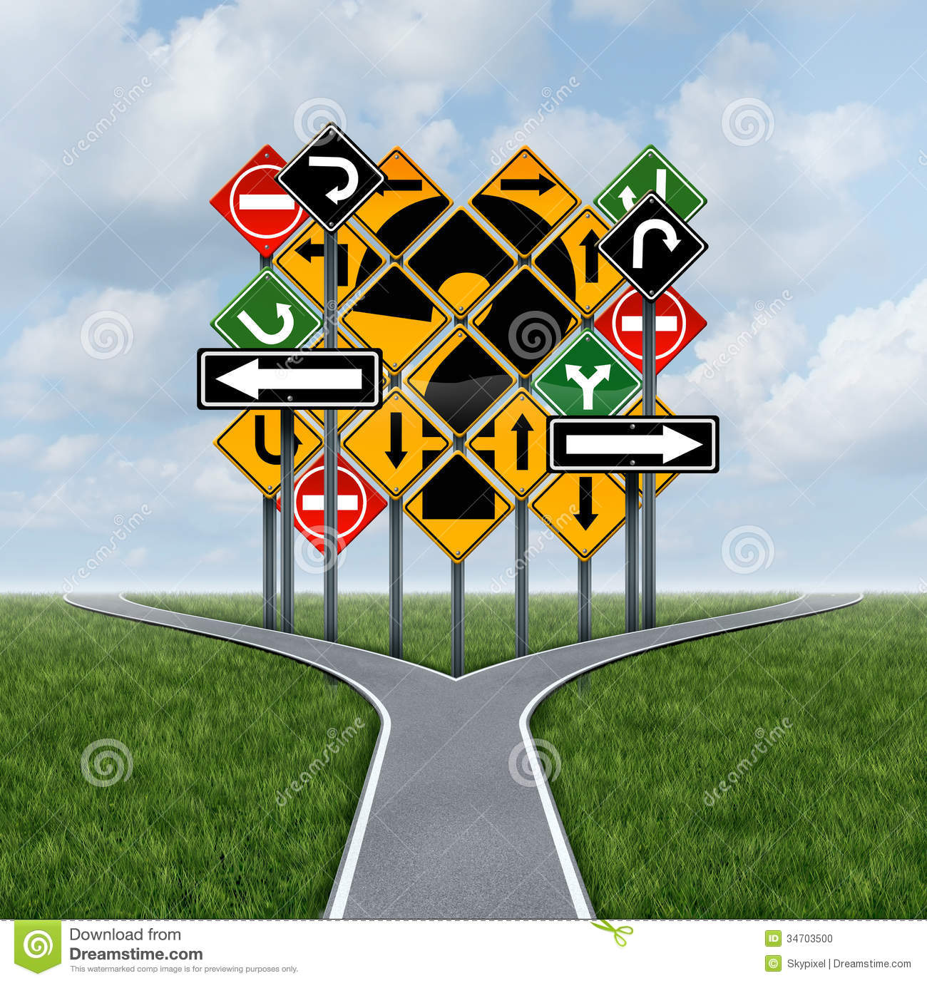confusing direction decision stock photo image 34703500