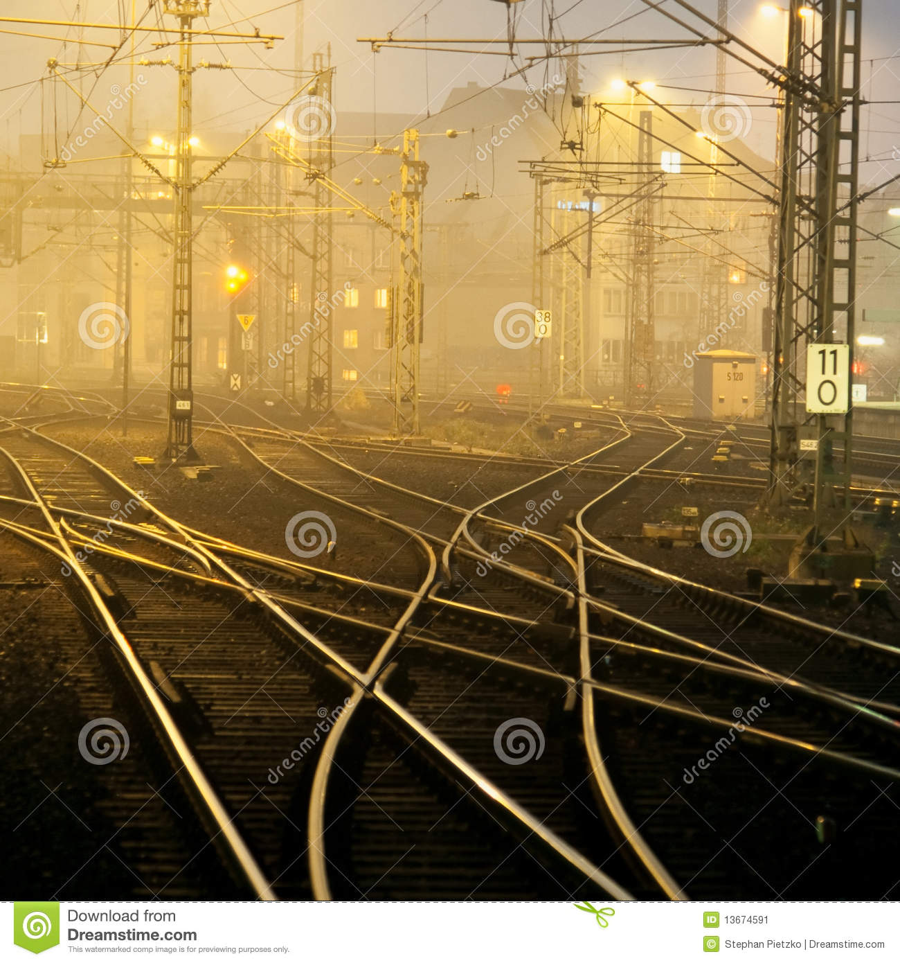 Download Confusing railway tracks stock image. Image of junction - 13674591