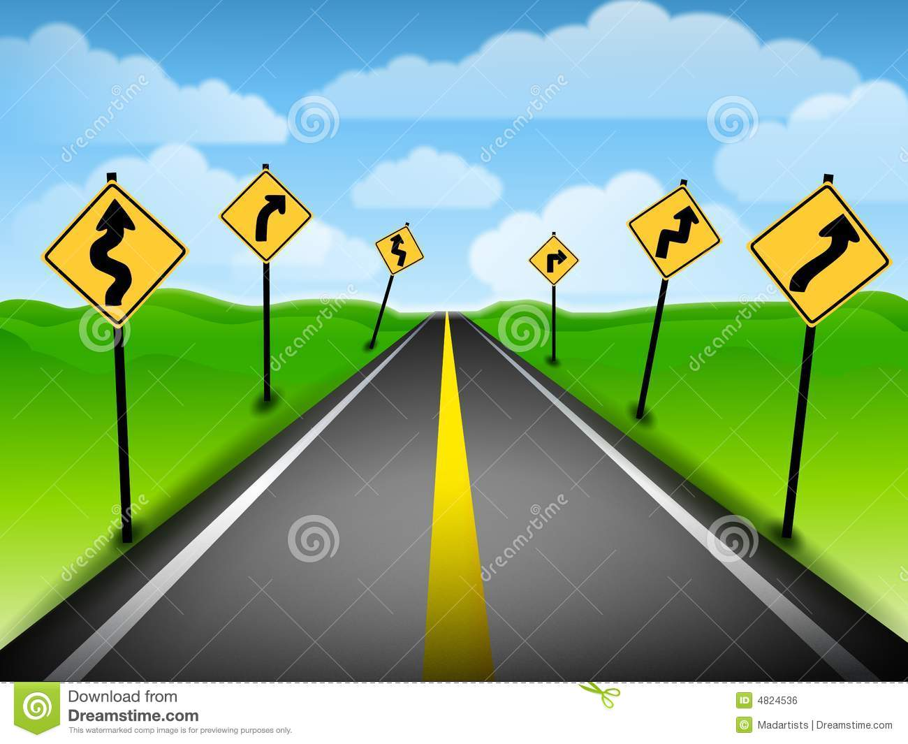 confusing road directions royalty free stock image image