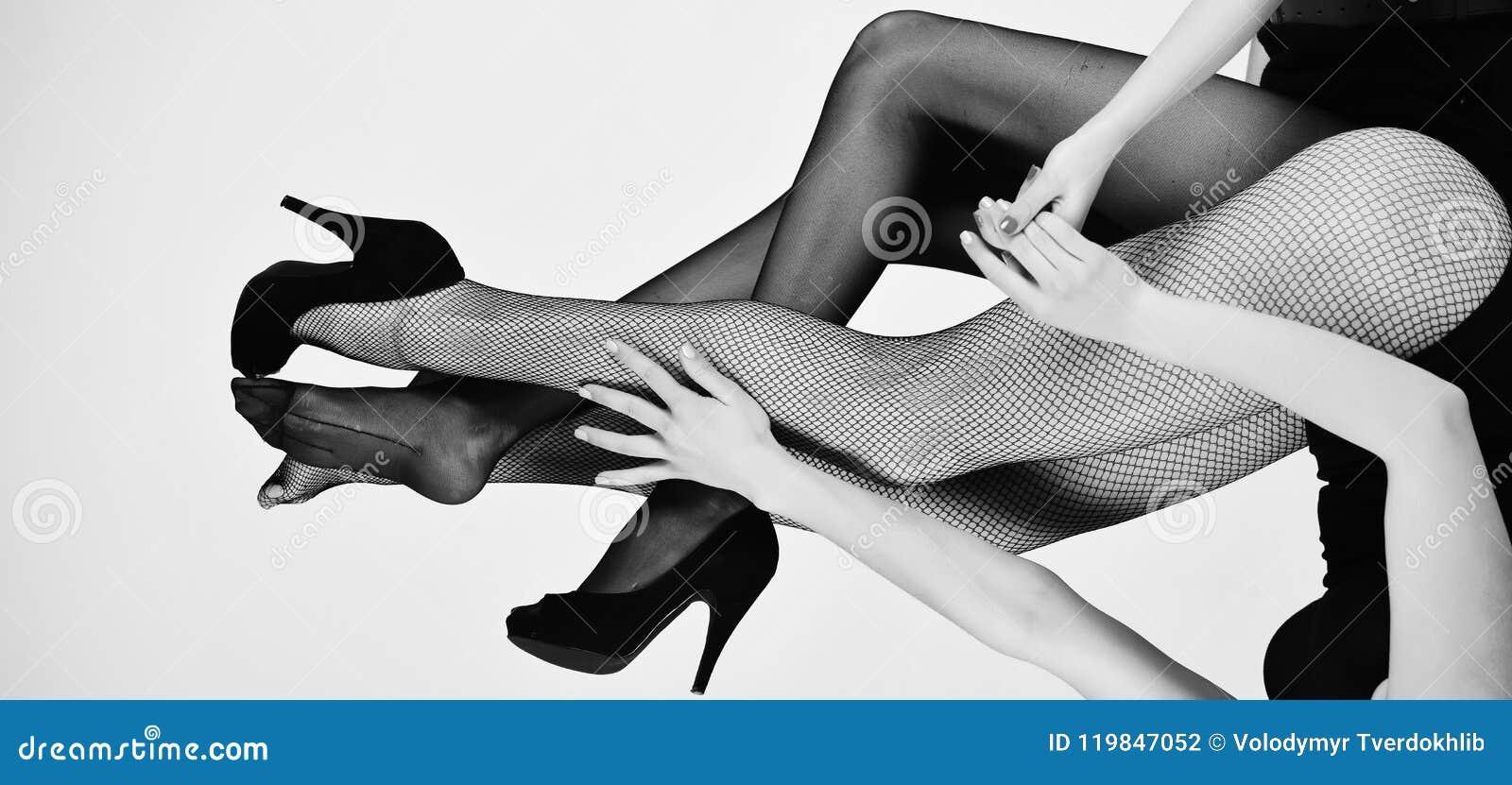 Sexy legs lesbians