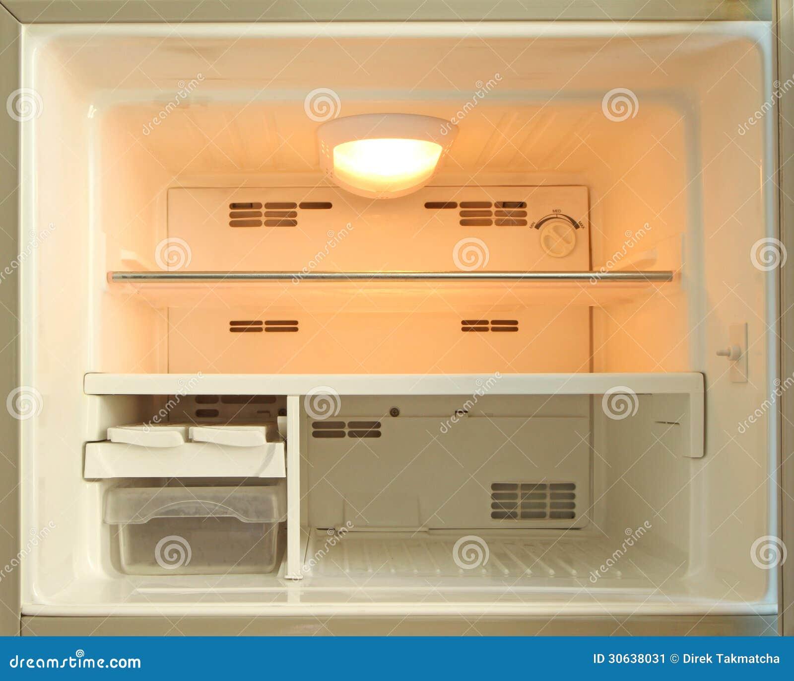 congelateur vide