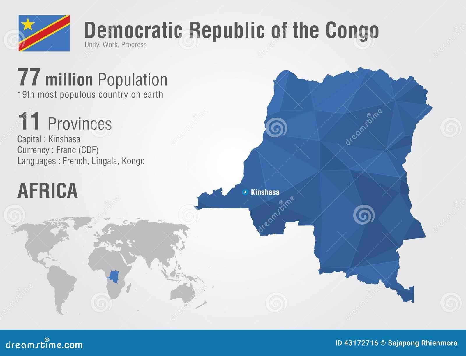 Congo Democratic Republic Of The Congo World Map Stock Vector
