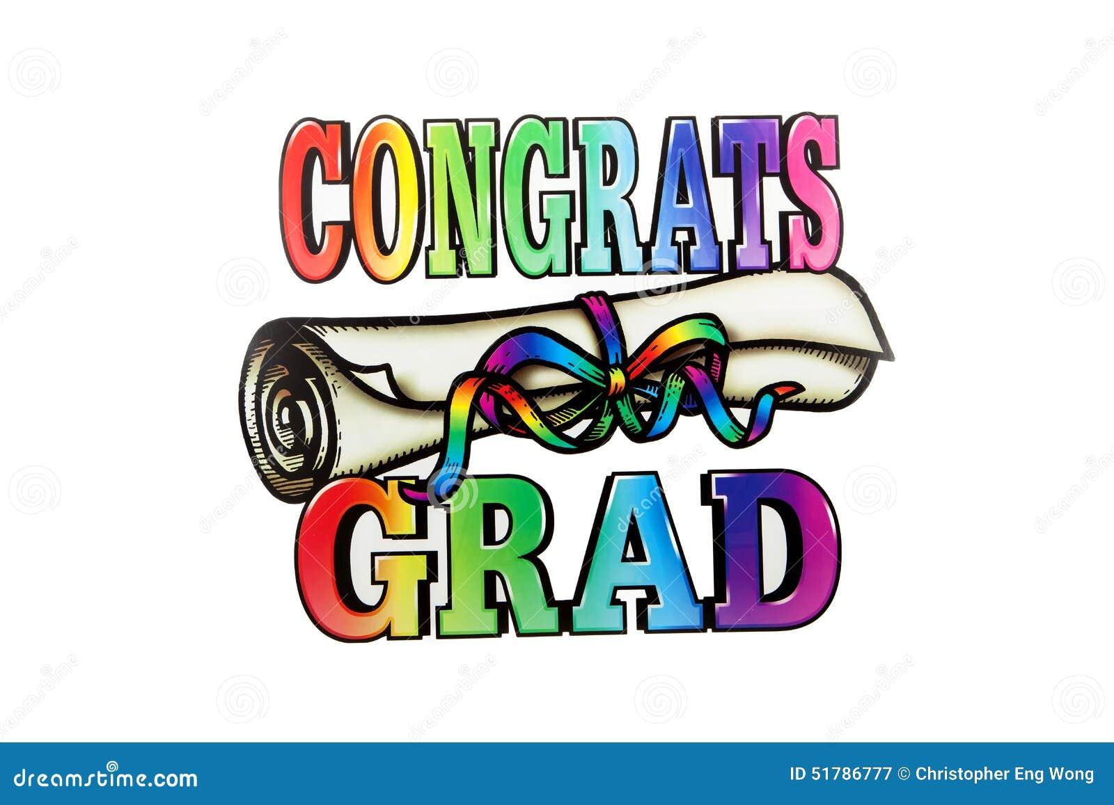 Congrats Grad Images Stock Illustration Image