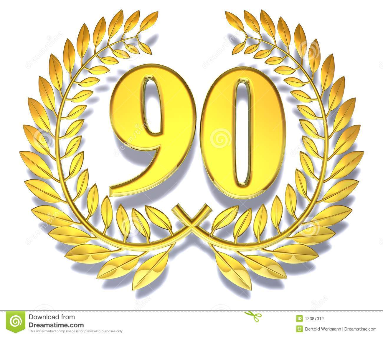 congratulation 90 stock illustration illustration of gilded 13387012