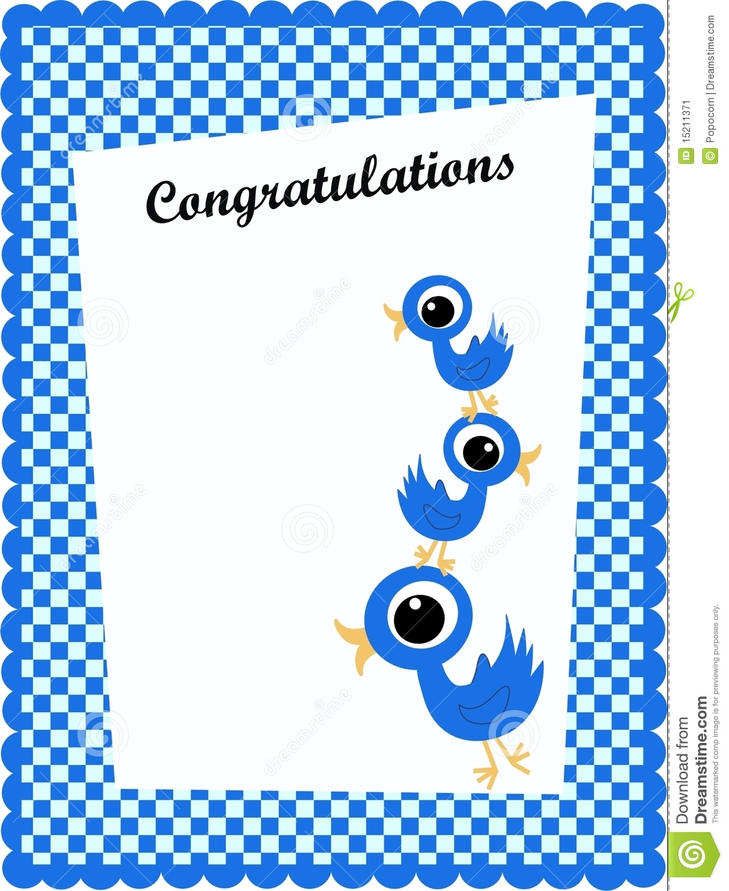 congratulation card stock image