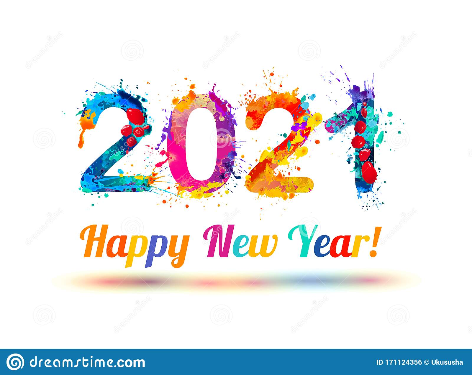 Congratulation Card. Happy New Year 2021 Stock Vector - Illustration of  vector, element: 171124356