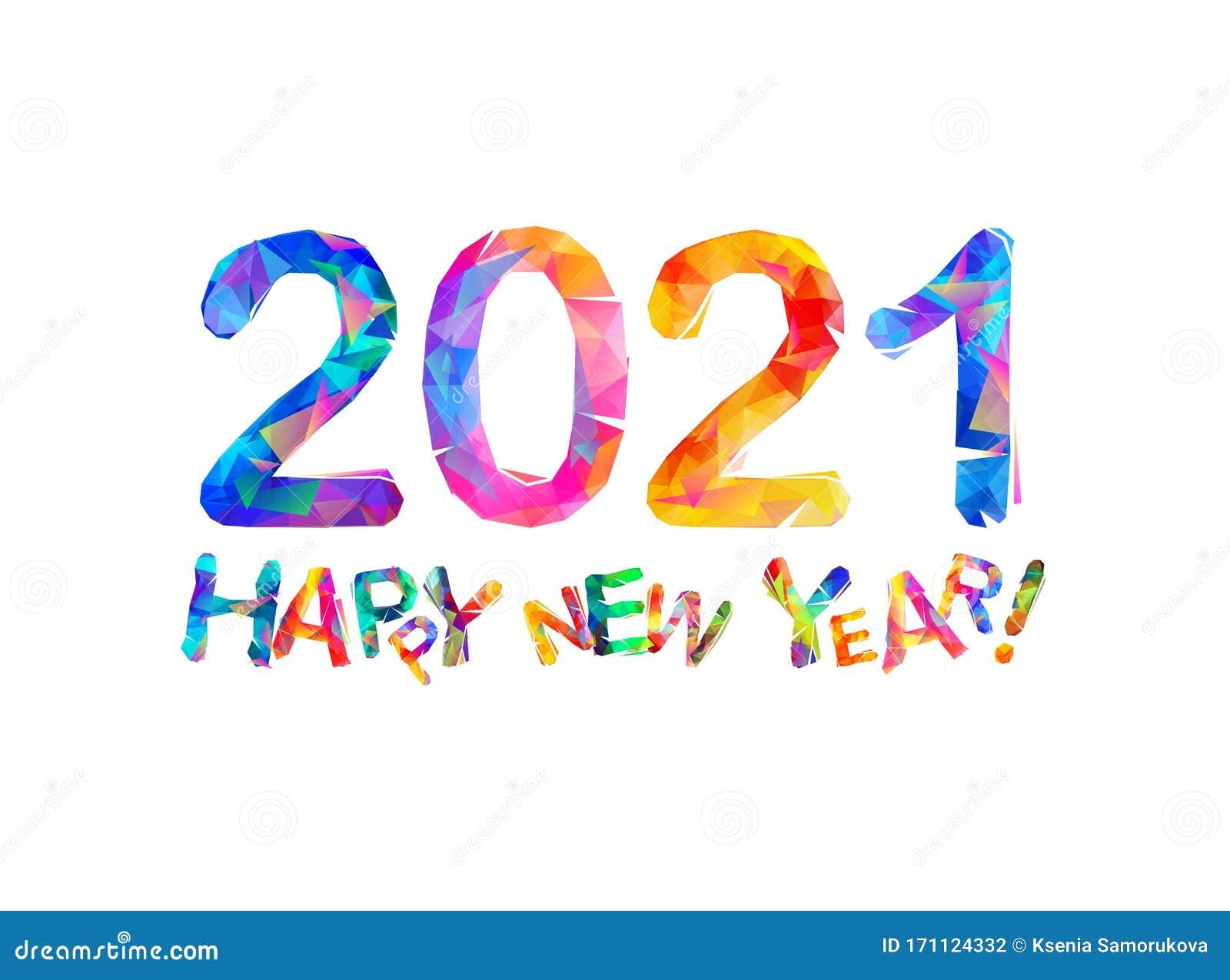 Congratulation Card Happy New Year 2021 Stock Vector Illustration Of Celebrate Symbol 171124332