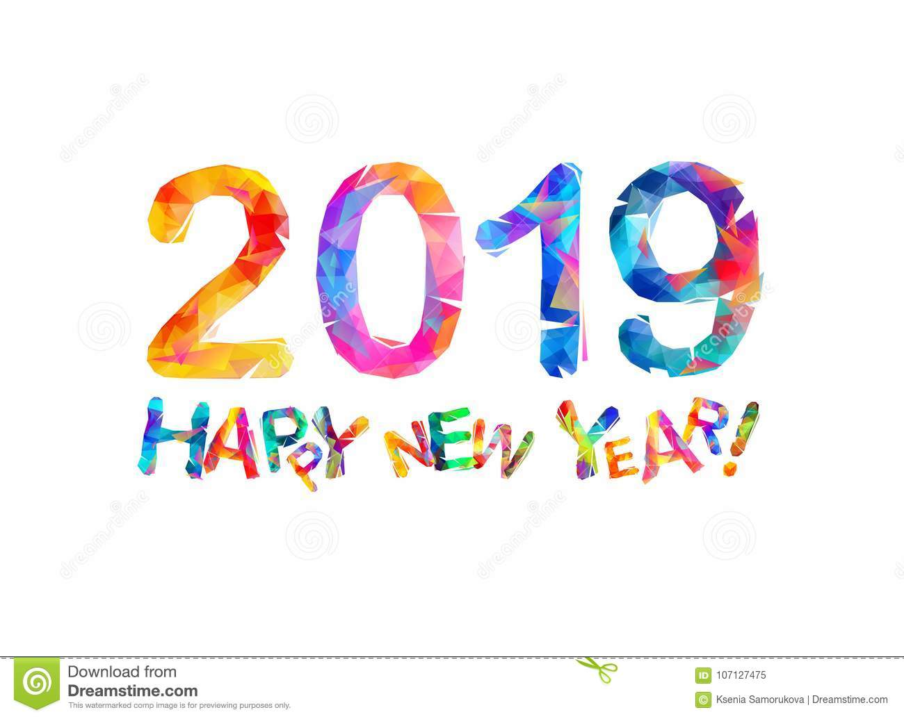 happy new year 2019 congratulation card