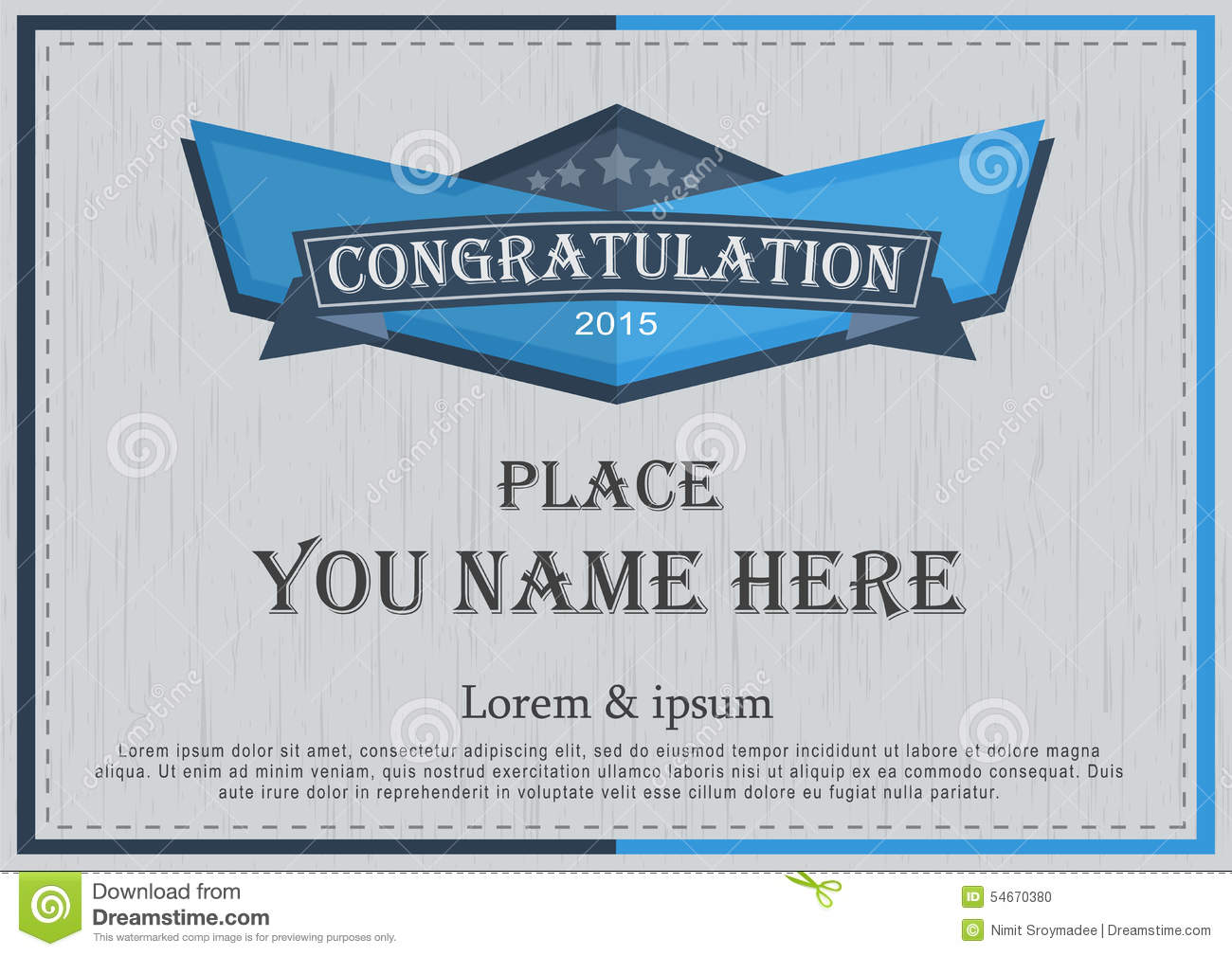 Congratulation Frame Retro Background Design Template ...
