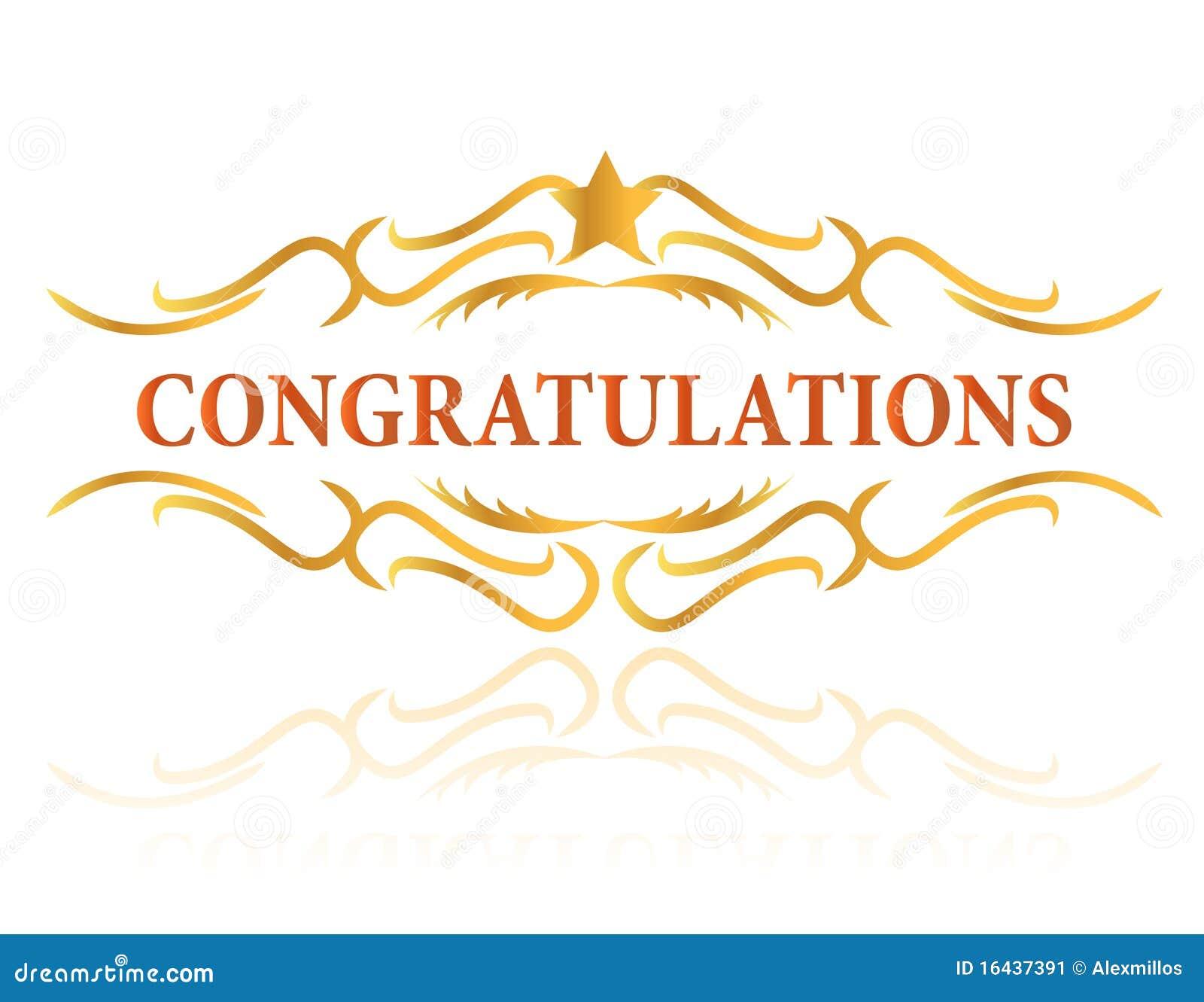 Congratulations Stock Image - Image: 16437391