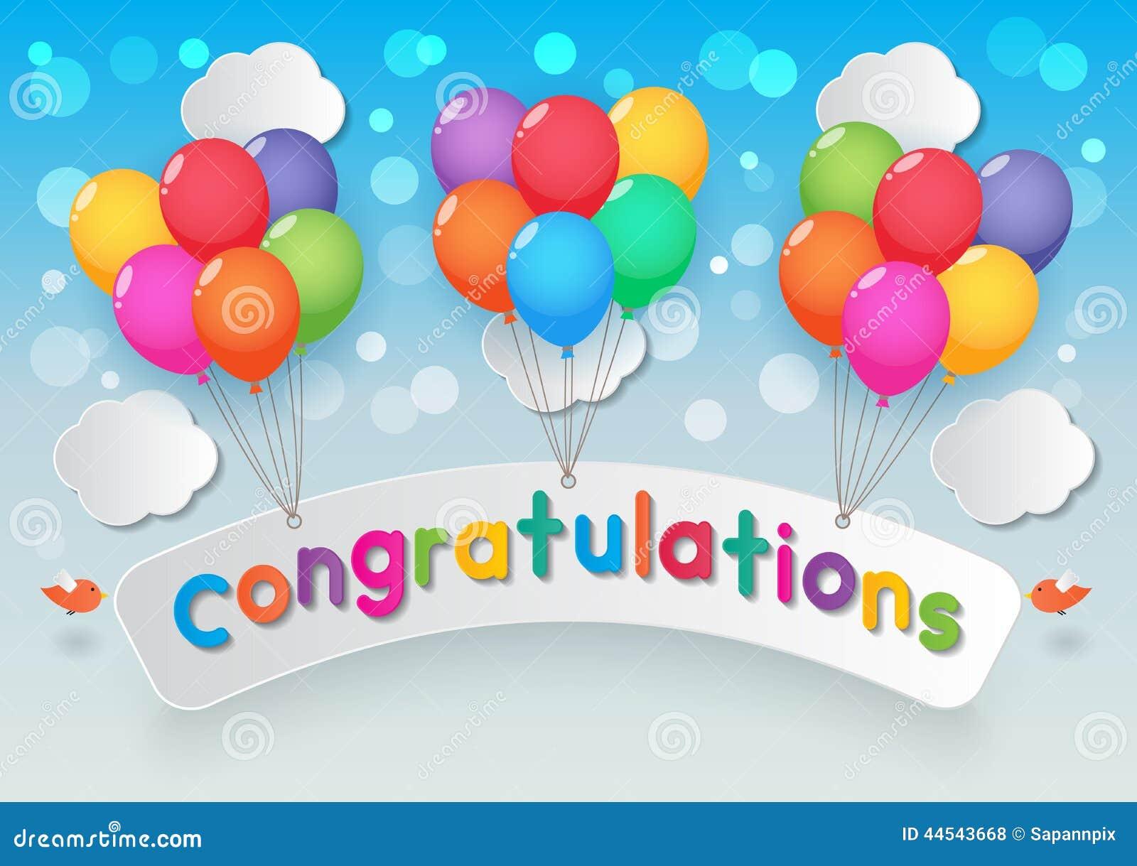 congratulations balloons stock vector image 44543668
