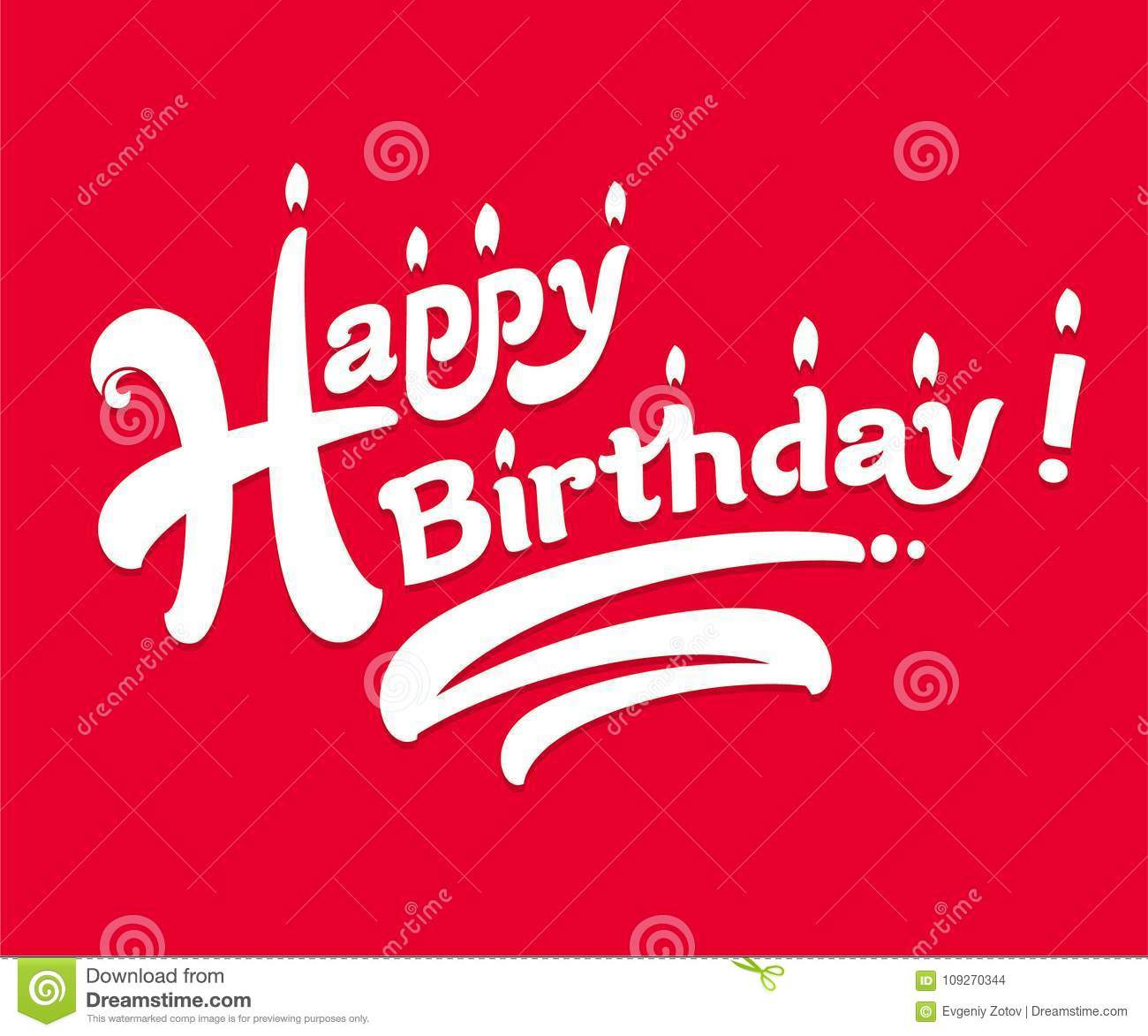 Congratulations On The Birthday Simple And Nice Card Stock Vector