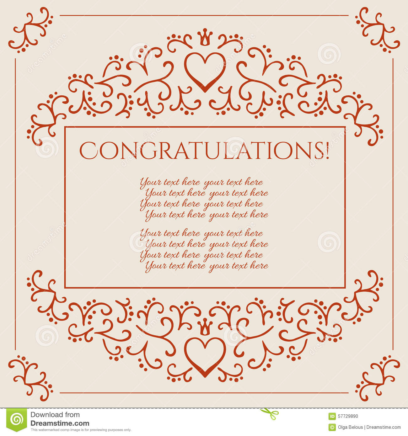 congratulations card design vector illustration stock vector